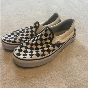 b&w checkered vans